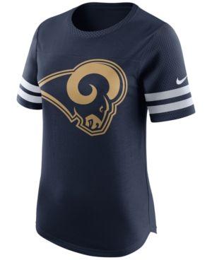 Nike Women s Los Angeles Rams Gear Up Fan Top T-Shirt - Blue XXL ... 55e065955175