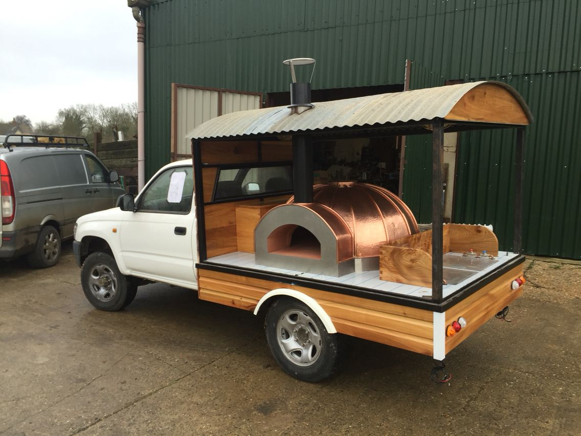 Portable wood fired pizza oven for sale - Working Progress On My Mobile Pizza Oven