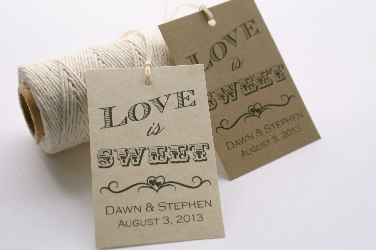 Free Printable Wedding Gift Tags: Wedding Favor Tag Template, Love Is Sweet Tag, Printable