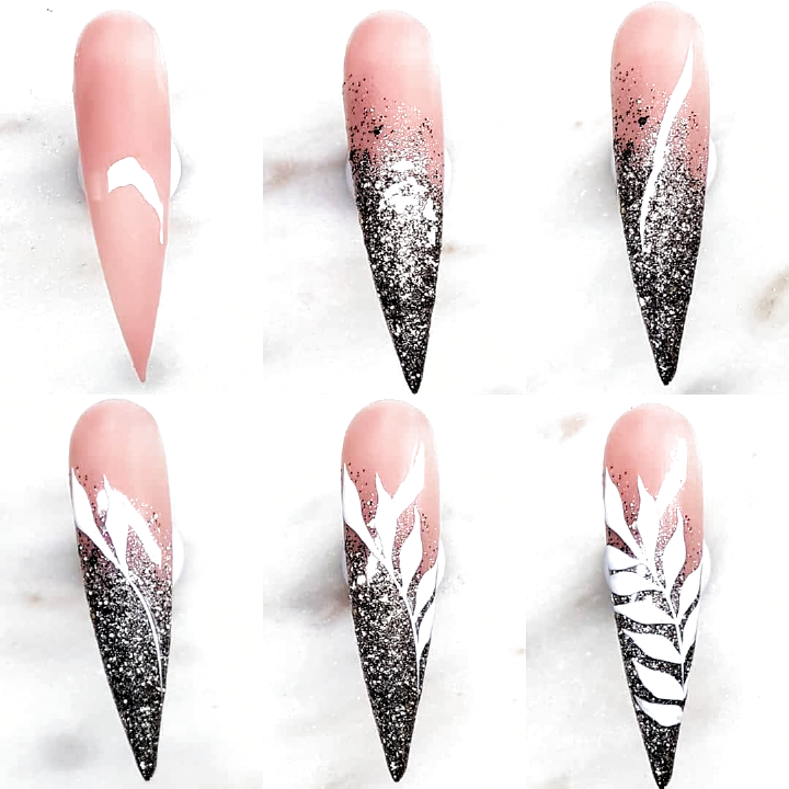 Jessica On Instagram I Am In Loove With This Glitter From The Fall 2019 Collection Nails Made With Light Trendy Nail Art Purple Nail Art Line Nail Art