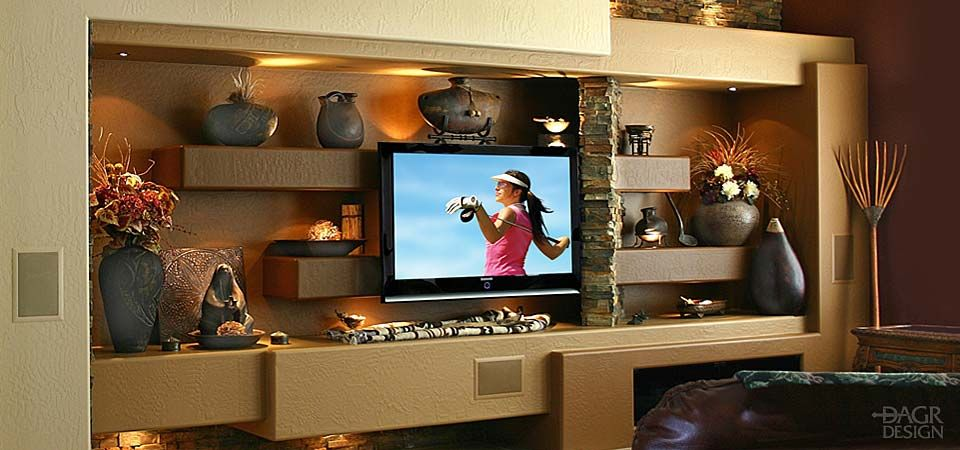 Custom Home Entertainment Centers Media Walls Phoenix AZ