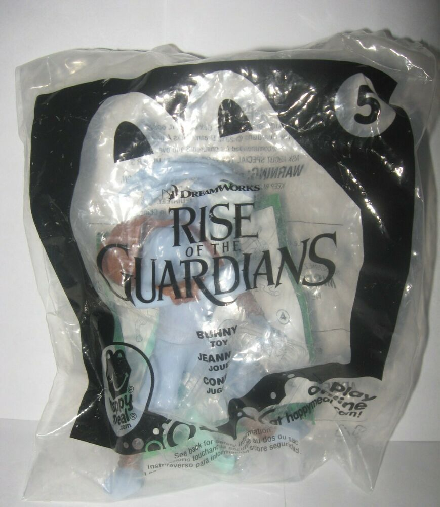 Rise of the guardians 5 bunny 2012 mcdonalds toys