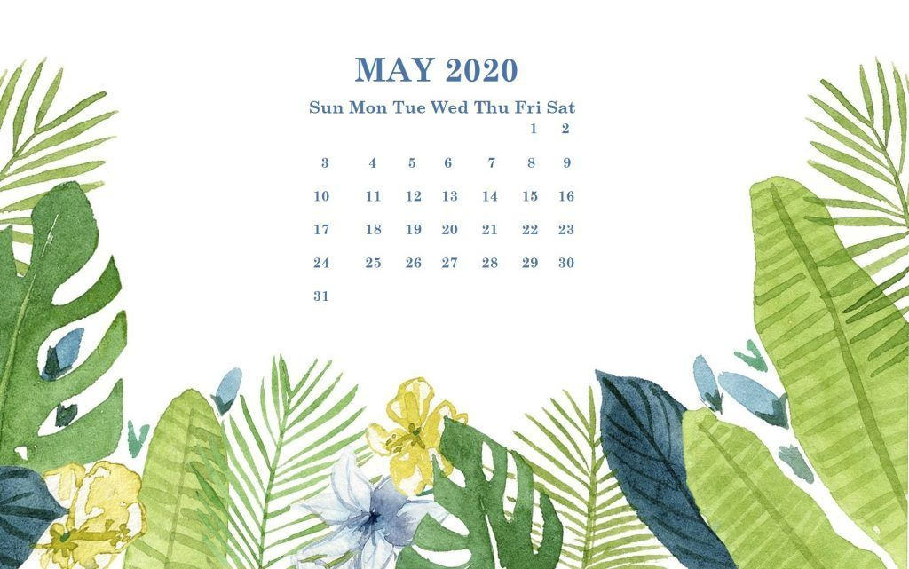 May 2020 Desktop Calendar Wallpaper In 2020 Calendar Wallpaper