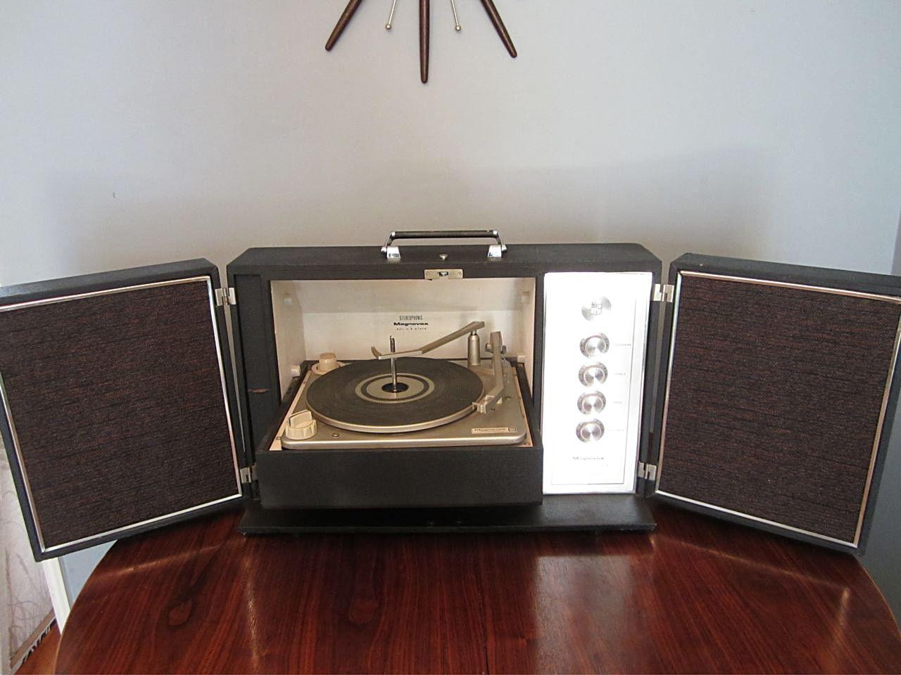 Vintage Magnavox Portable Record Player Radios Retro