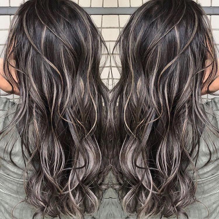 26++ Dark black hair with ash blonde highlights ideas in 2021