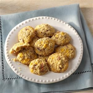 "Breakfast Cookies Recipe -I like to give my family a hearty start in the morning, especially when they have to eat in a hurry. These easy-to-make ""cookies"" are perfect for a breakfast on the run and really appeal to the kid in all of us. —Wanda Cox, Roscommon, Michigan"