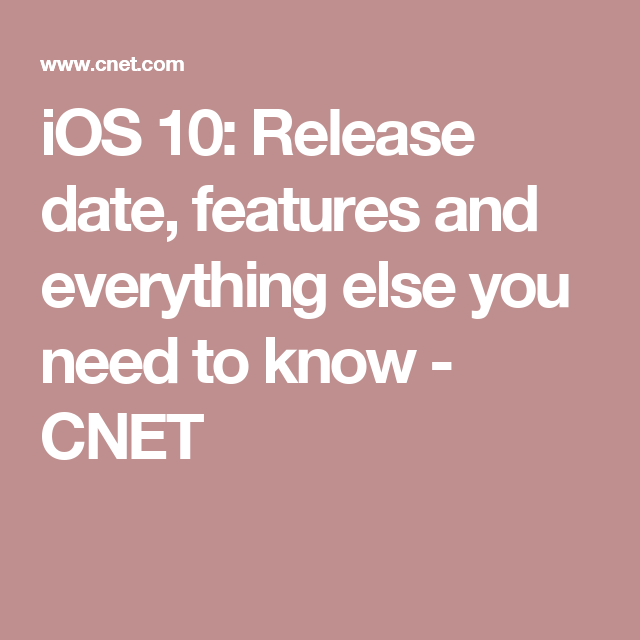 #iphone  #geek iOS 10: Release date, features and everything else you need…   BTW, Also check out these iPad and iPhone Tips and Tricks:  http://www.universalthroughput.com/interest/index.php?item=533