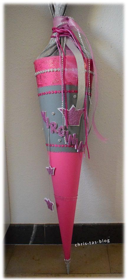 schult te selber basteln prinzessin rosa glitzer krone blogger diy pinterest. Black Bedroom Furniture Sets. Home Design Ideas