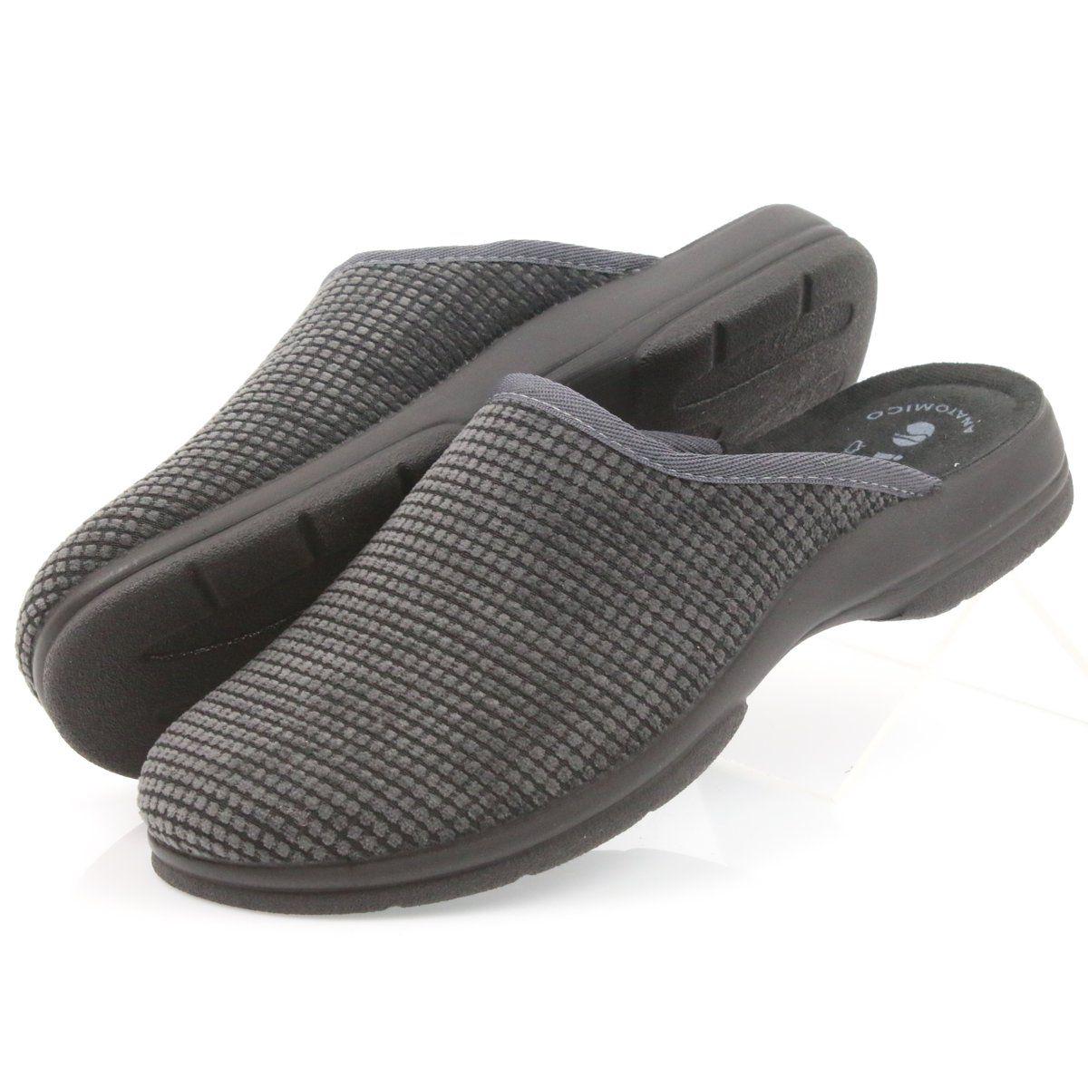 Inblu Kapcie Meskie Klapki Szare Slip On Sneaker Shoes Slip On