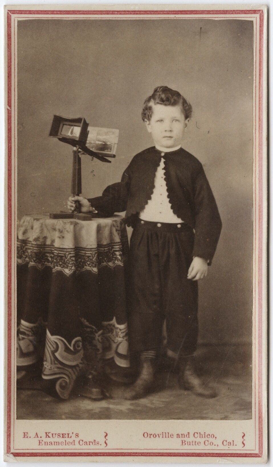 1855 95 Carte De Visite Portrait Of A Young Boy With Steroscope Edward Abraham Kusel Via The Yale Collection Western Americana