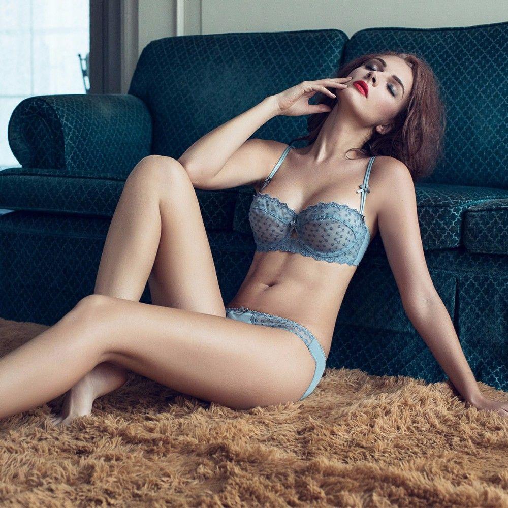 aa1242dbf3 Joy Alice 2017 new 32 34 36 38 B C D Big Cup Lace Bra Panties Set Thin Cup  Bombshell Underwear Set Sexy Lingerie Set   Intimates - RealShoppi.com