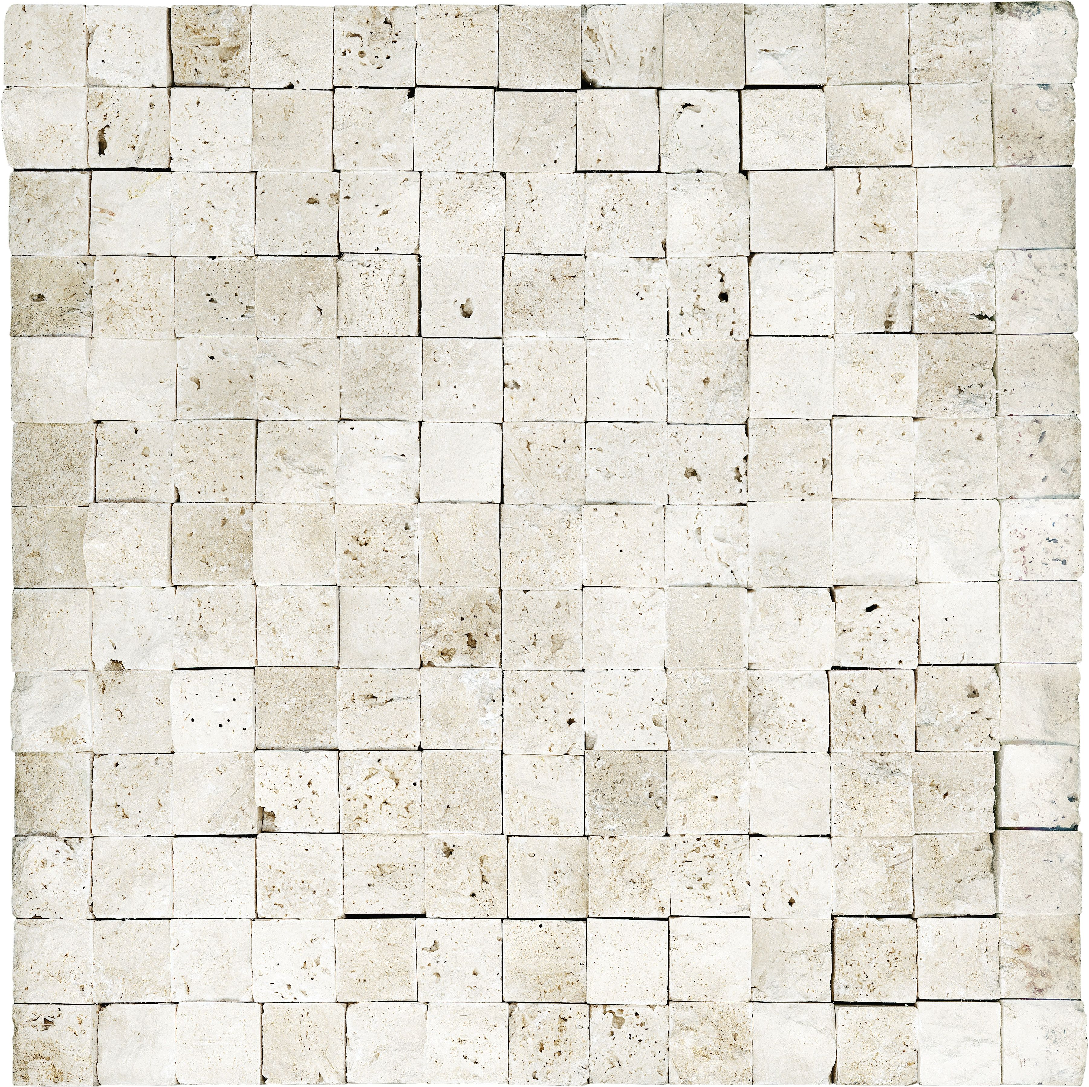 76 025 Split Face Ivory Travertine Mosaics 1 X1 Travertine