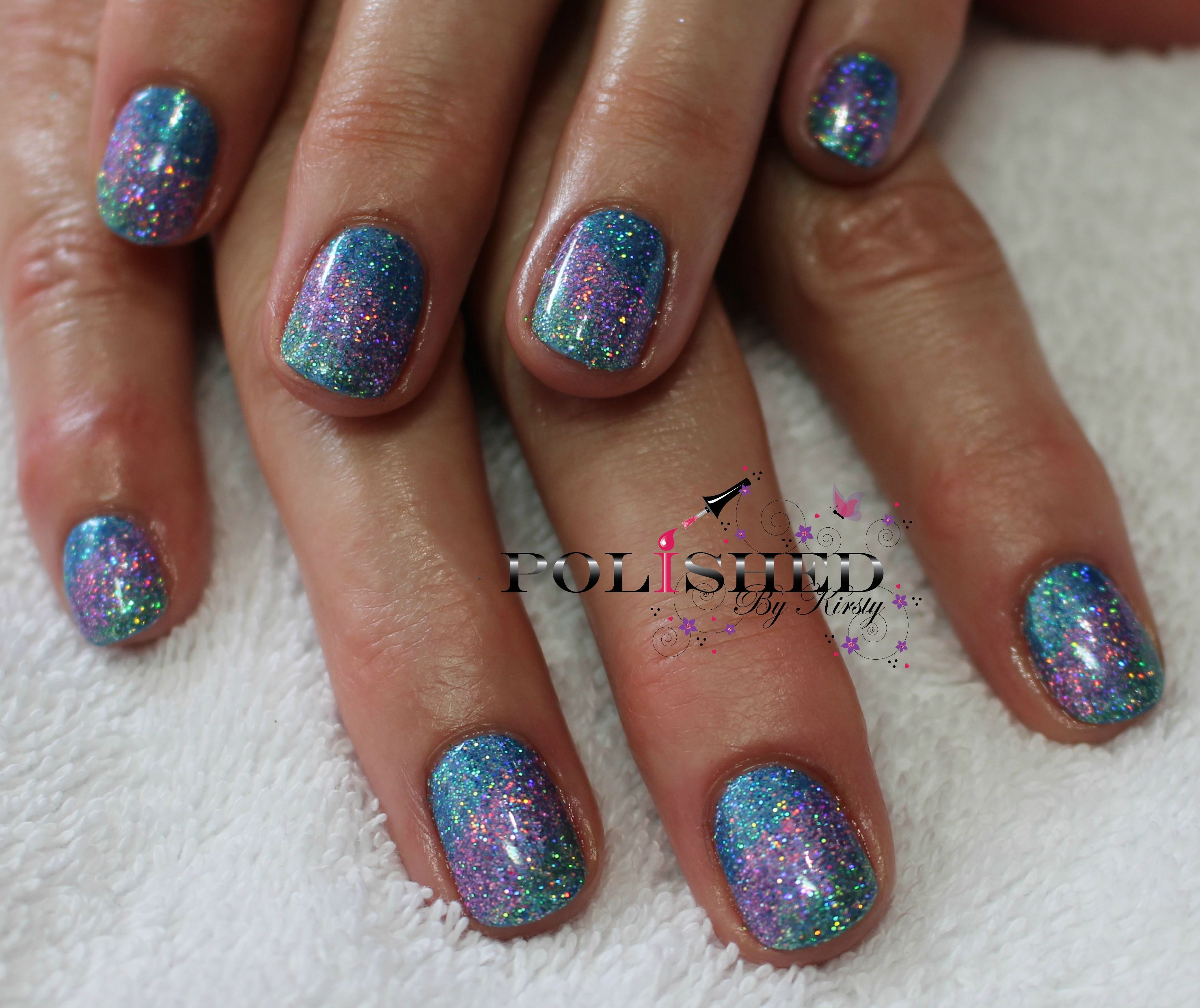 Green Glitter Nail Polish Uk: CND SHELLAC WATERPARK WITH BLUE, LAVENDER AND GREEN
