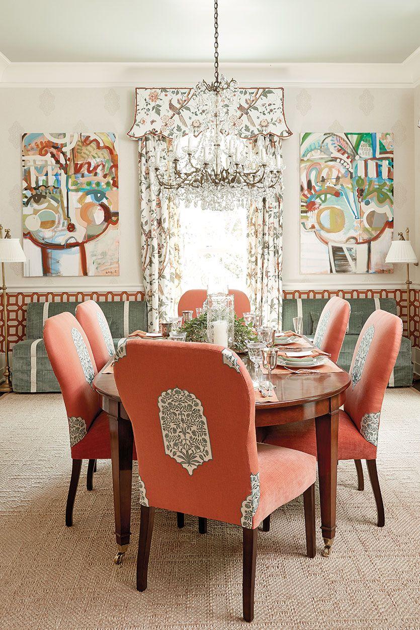 Interior Designer Margaret Kirkland S Dining Room In The 2016 Southern Living Idea House Mt Laurel Alabama