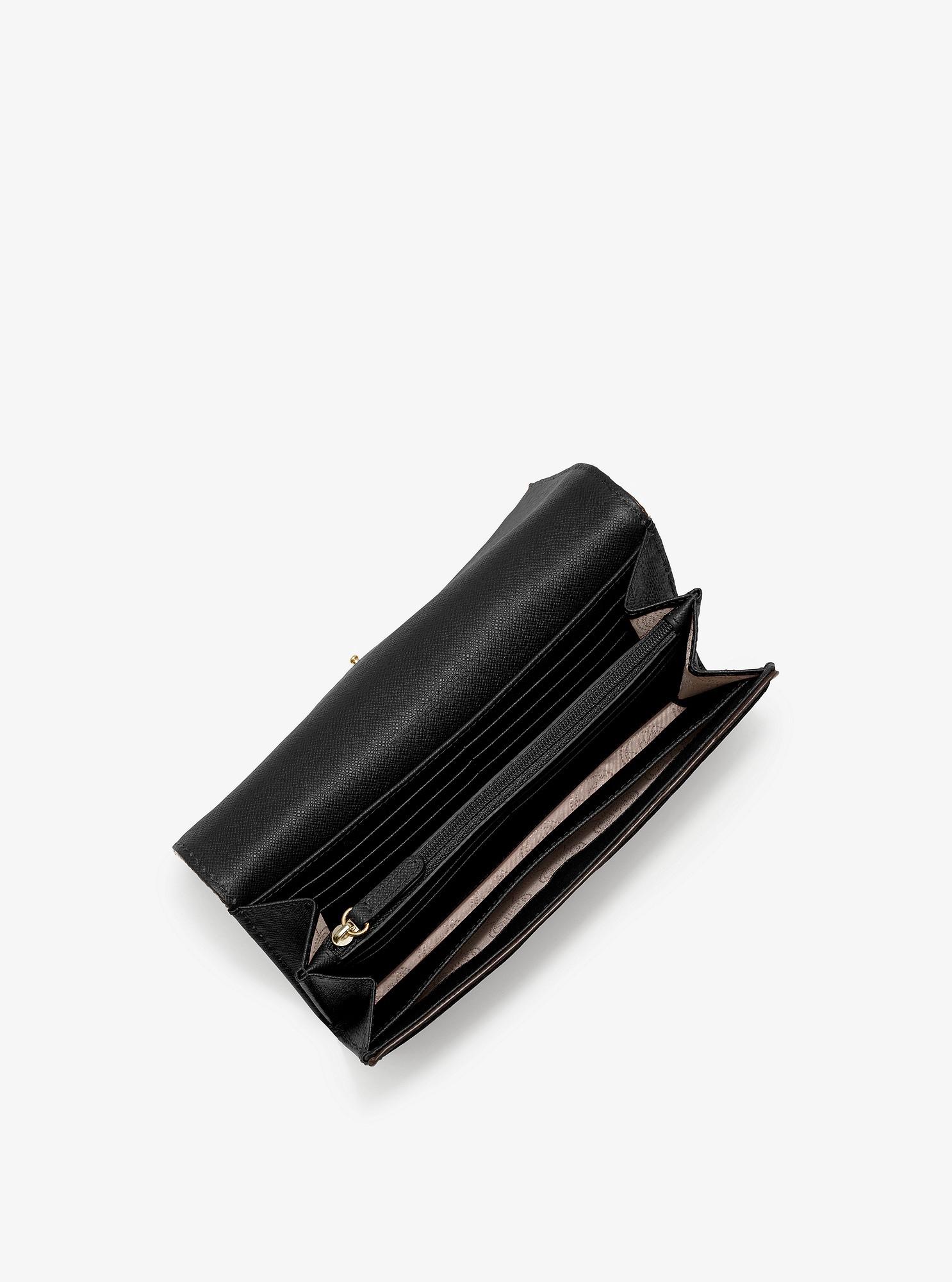 e4ce67f0f73b Michael Kors Fulton Leather Carryall Wallet - Black
