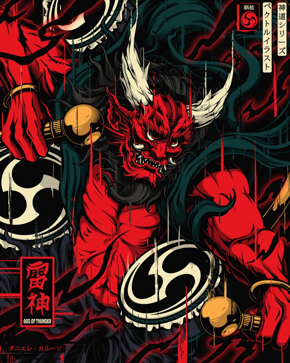 Shinto Gods on Behance in 2020 Japanese art modern