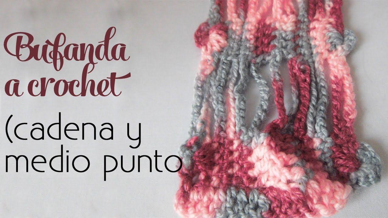 Cómo tejer: Bufanda súper fácil (cadenas y medios puntos) | Crochet ...