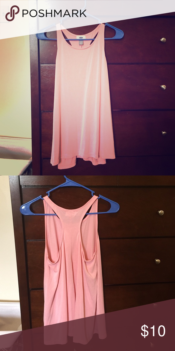Pink flowy racerback tank small Super soft fabric ! So flowy and lightweight. never worn Old Navy Tops Tank Tops