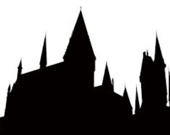 Bildresultat For Hogwarts Wall Painting Siluett Hp Coloring Pages