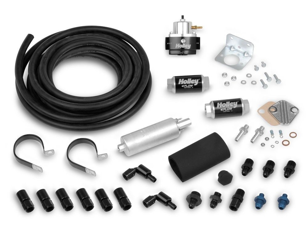 Holley 526 3 Terminator Efi Fuel System Plumbing Kit With Super Stock Hose Holley Nhra Pro Stock System