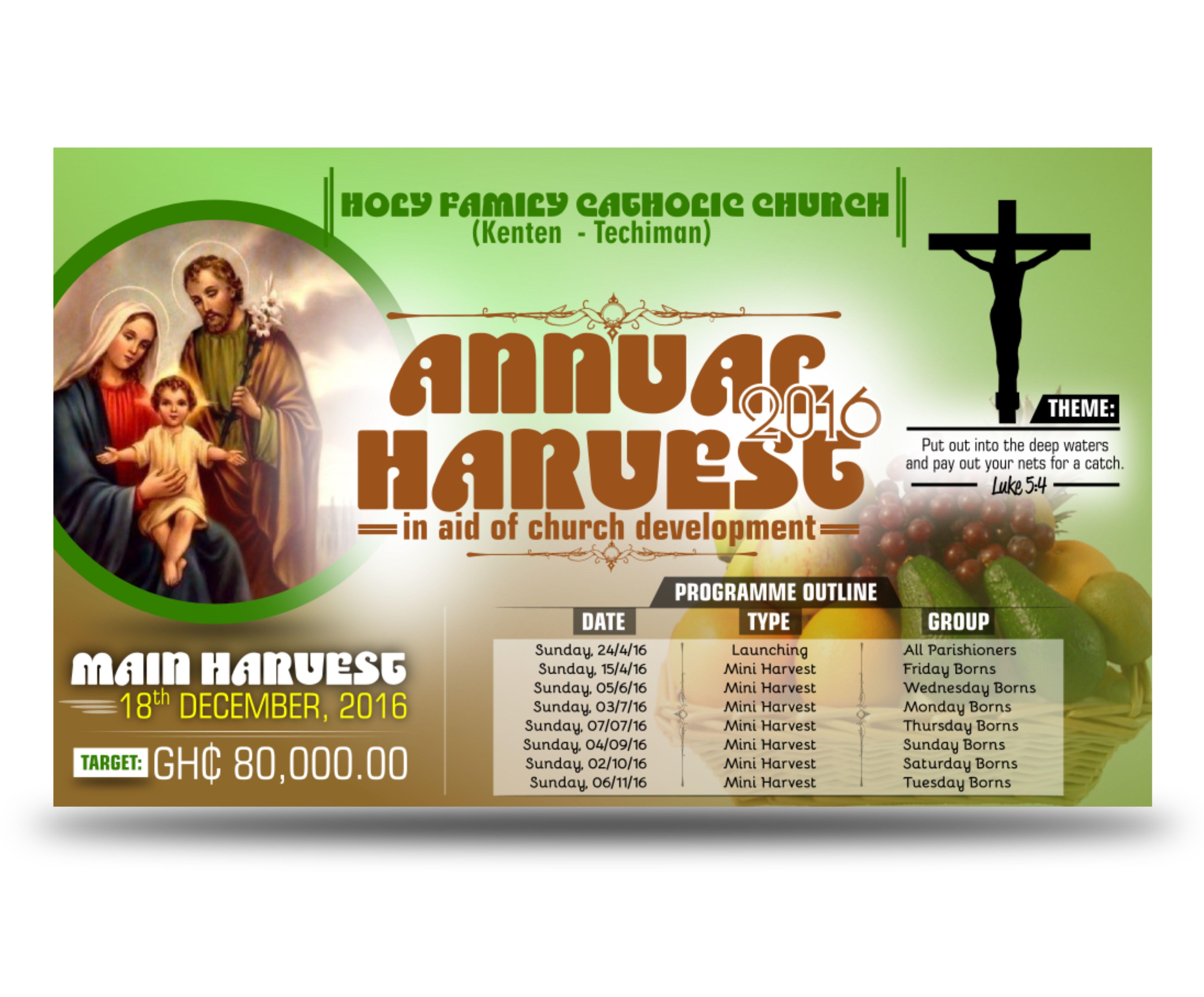 holy family catholic church kenten_techiman annual harvest large