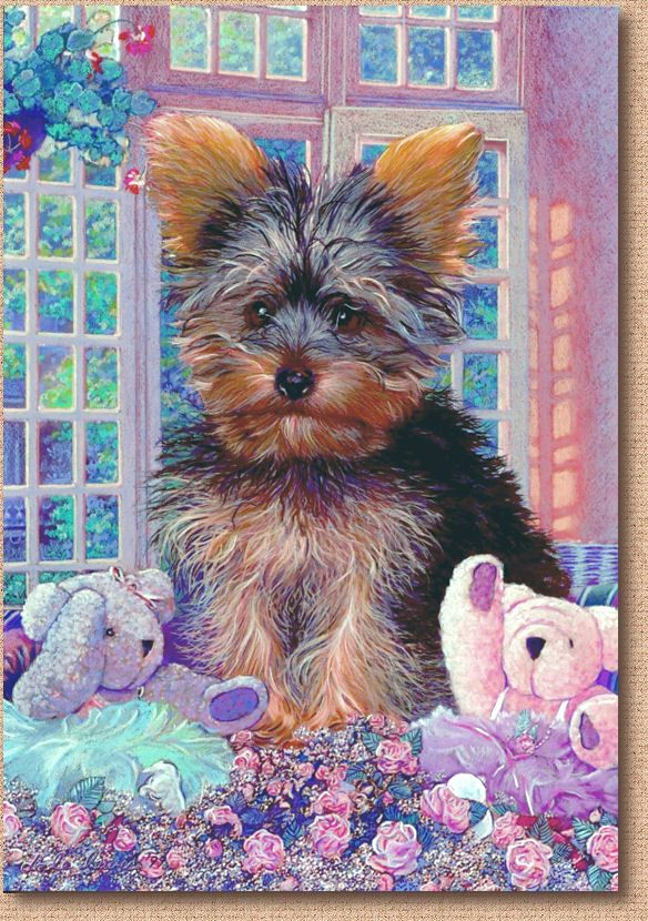 """Pet Art of A Rosie"""", a Yorkshire Terrier"""