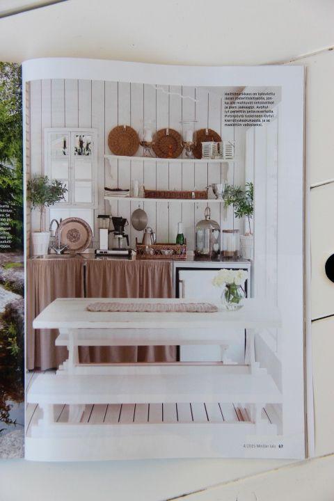 Kesähuoneen keittiö Meidän talo-lehdessä