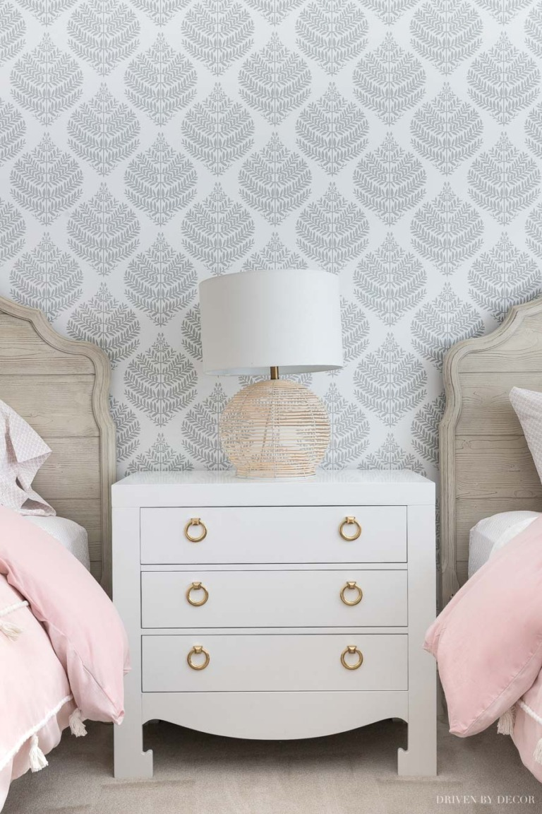 Peel Stick Wallpaper How My First Project With It Turned Out Your Questions Answered Driven By Decor Bedroom Night Stands Driven By Decor Peel And Stick Wallpaper