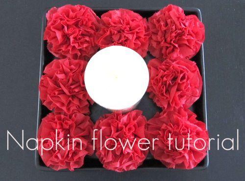 Napkin flower center piece