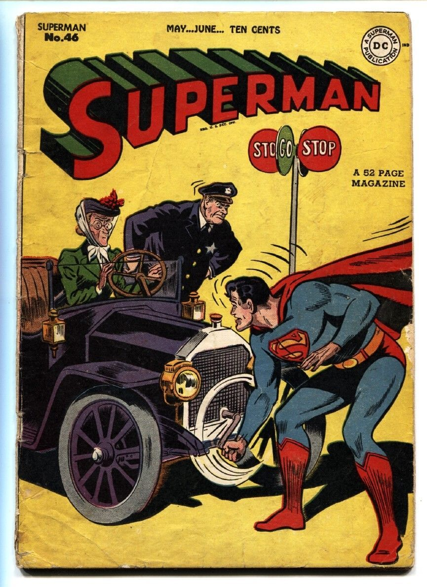 SUPERMAN #46-1947-Superboy appears-Golden-Age comic book-DC