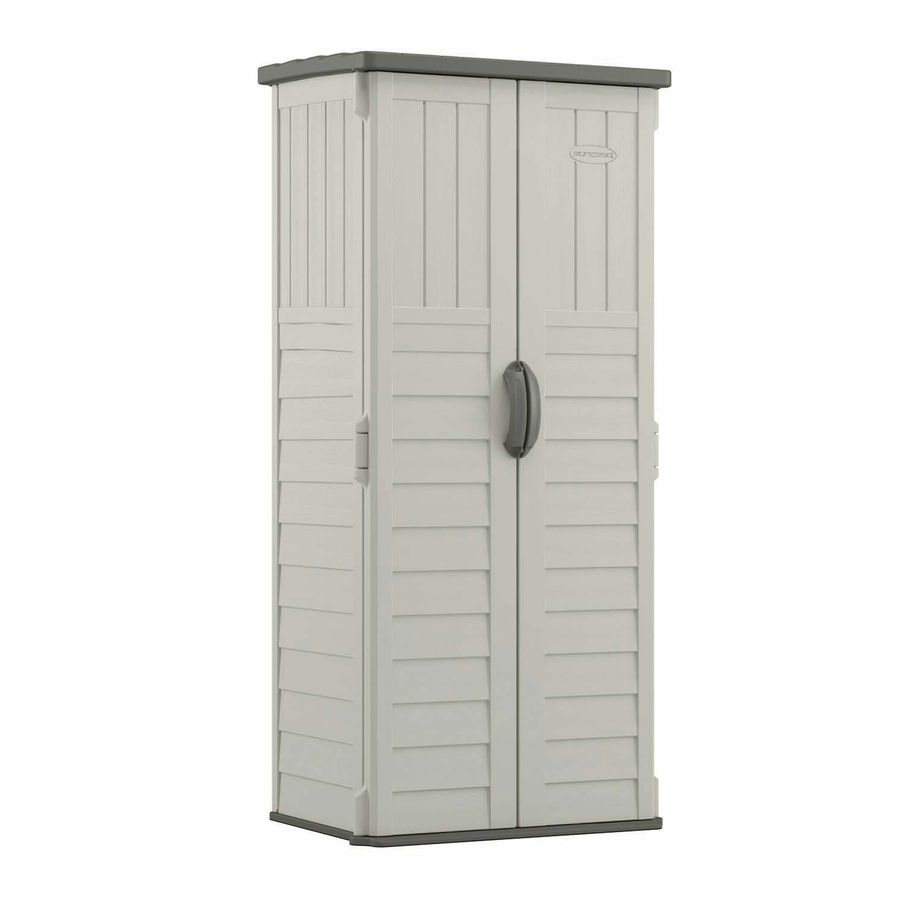 Shop Suncast Vanilla Resin Outdoor Storage Shed Common 32 25 In