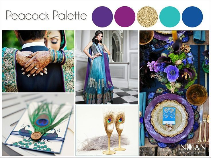 Peacock Themed Wedding Navy Teal Purple Green Gold Google Search
