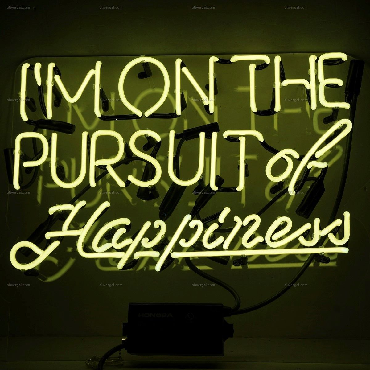 Pursuit Of Happiness Neon Sign