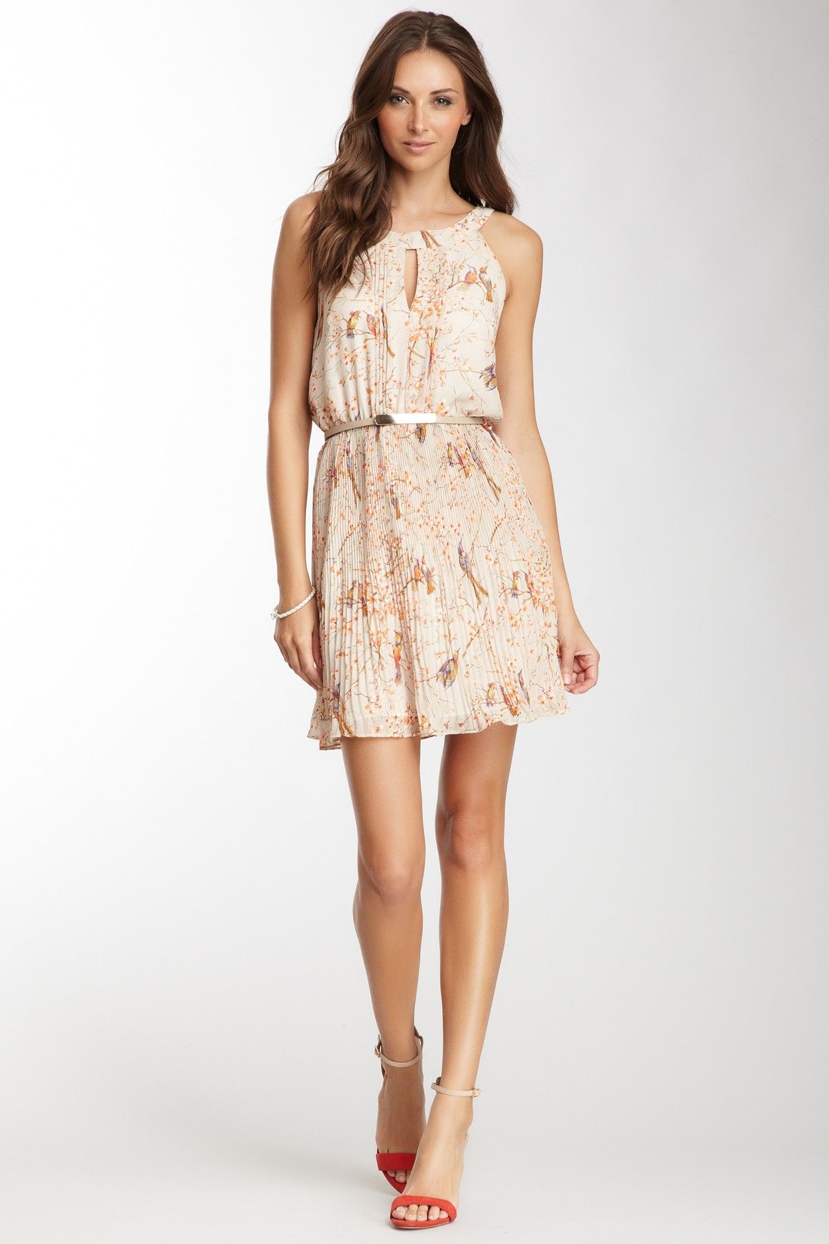 Floral Pleated Dress//
