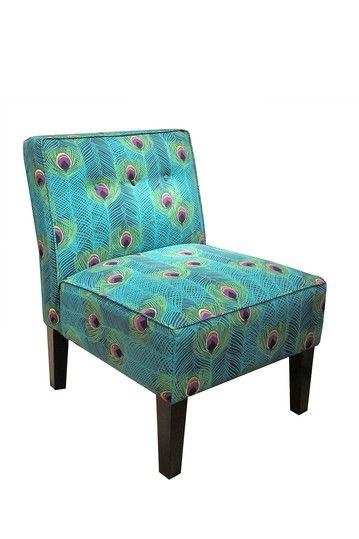 Gold Coast Furniture Collection  Button Chair - Punjab Peacock