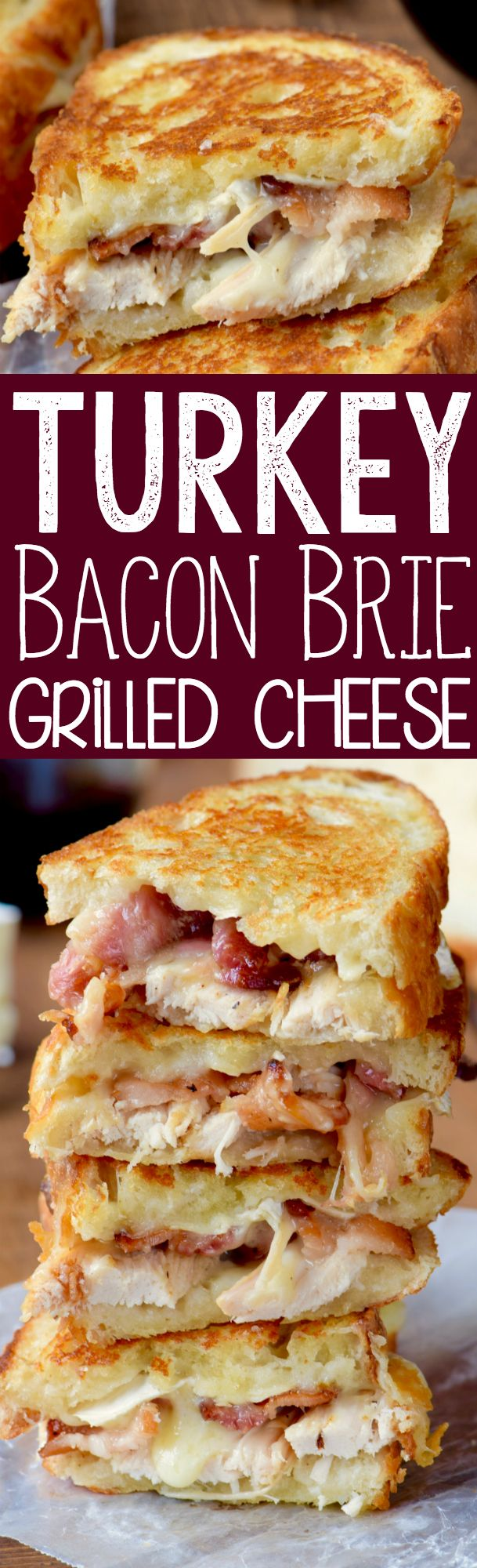 This Turkey Bacon Brie Grilled Cheese Sandwich is super easy and absolutely delicious! My favorite kind of food! #grillingrecipes