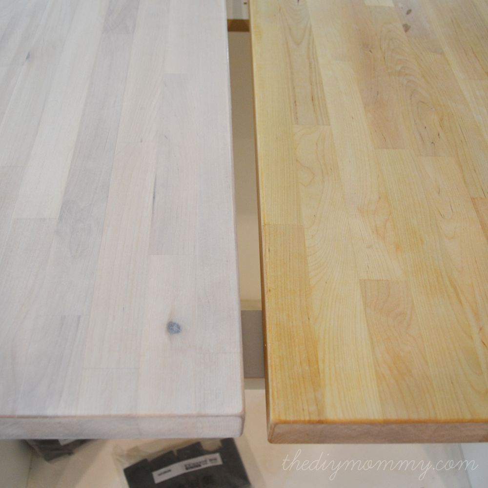 How To Whitewash Seal Numerar Butcher Block Counters Ikea