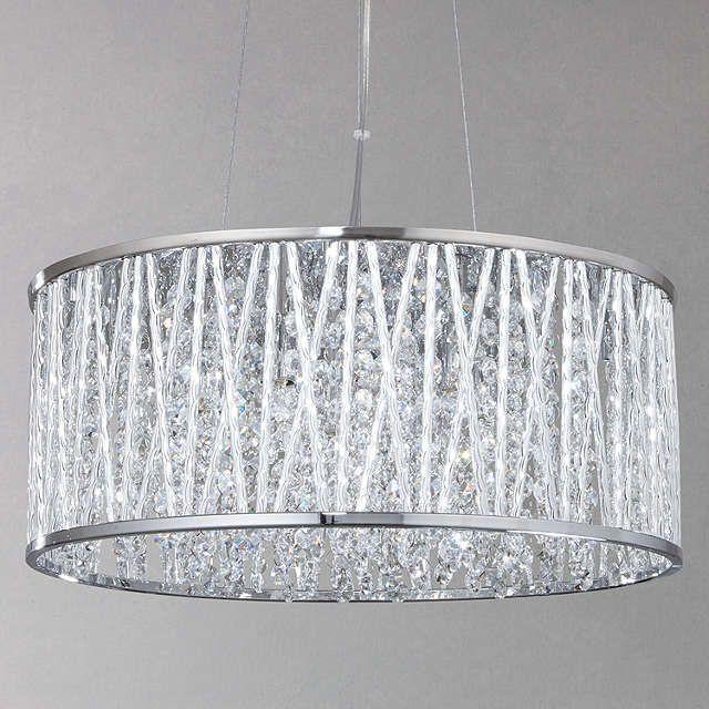Buyjohn lewis emilia drum crystal pendant light online at johnlewis com
