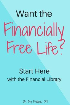 What the financially free life? Are you tired of worrying about money? Not sure where to start to get out of debt? The financial library is a free subscription that gives you access to documents that can help you improve your finances and live a life free of stress and worry!
