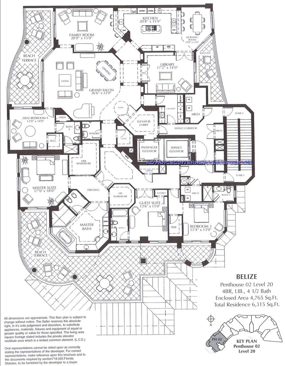 The belize at cape marco luxury condominium floor plans for Apartment plans autocad