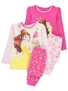 9c746ebba88a Girls Character Pajamas Online  Disney Princess Belle Pyjamas 2 Pack ...