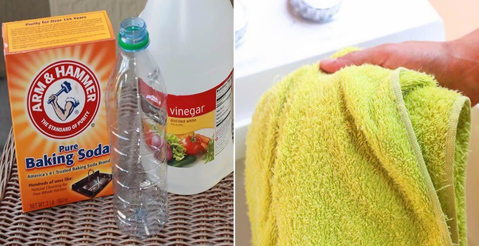 Como Eliminar El Mal Olor De Las Toallas Consejos Infalibles In 2020 Vinegar Hand Soap Bottle Baking