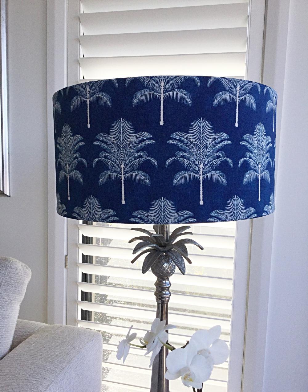 Lampshade Palm Life Coastal Decor Lamp Shade Beach Decor Tropical Decor Barrel Lampshade In 2020 Lamp Shades Coastal Decorating Outdoor Cushion Covers