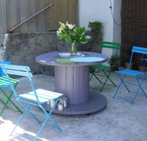 OUTDOOR bolt tables. genius!