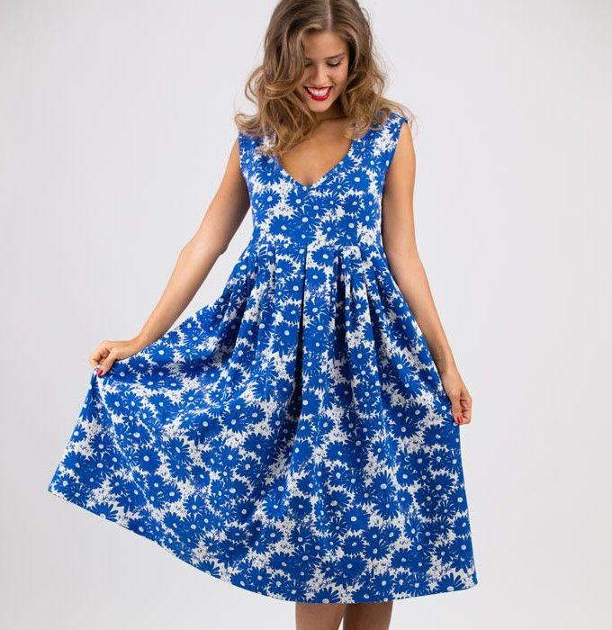 Sewing Pattern Dress Luciana | Dress patterns, Patterns and Sewing ...
