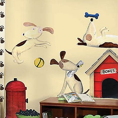 Dog Wall Decals, Kids Room Décor Wall Stickers, Dog Decorations ...