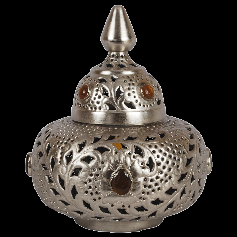 Tafellamp Marrakech klein met amberkleurige stenen. Collectione ...