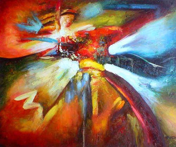 Abstract schilderij bij kunst kantoor thuis inspiration for Moderne schilderijen