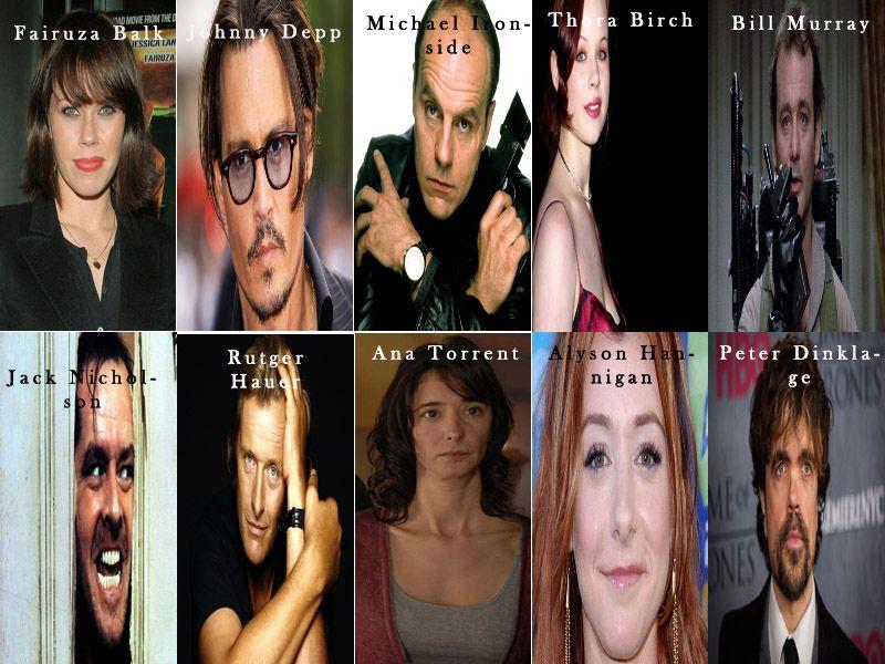 Algunos de mis actores preferidos