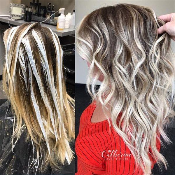 20+ Trendy Hair Highlights : Balayage application
